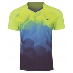 Pánske Bedmintonové tričko Li-Ning Dash pánske modro - žlté