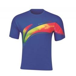Bedmintonové tričko Li-Ning Training modré