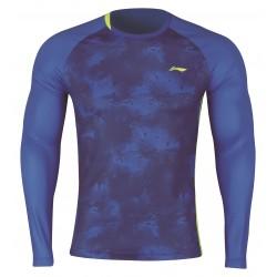 Bedmintonové tričko Li-Ning dlhý rukáv modré