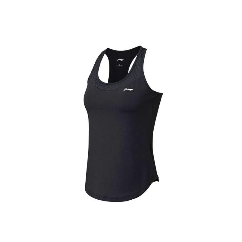 Dámske fitness tričko Li-Ning čierne