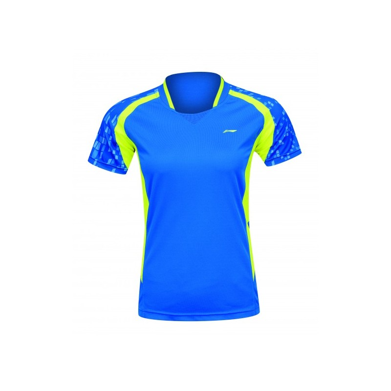 d2445bf8d6d2 Bedmintonové tričko Li-Ning Stone dámske modré