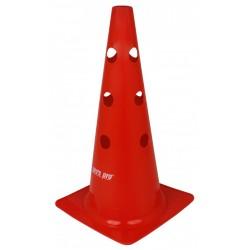 """Značkovací kužeľ s otvormi 15 """" (38 cm) červený"""